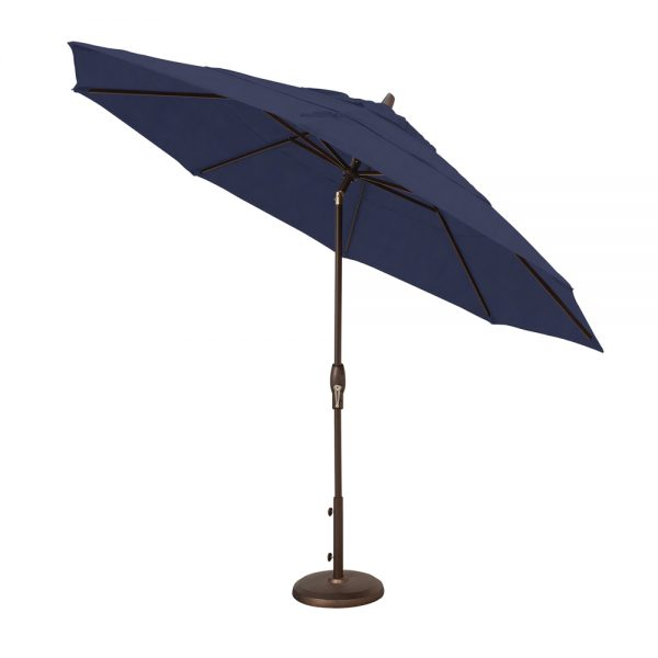 Treasure Garden 11' auto tilt market umbrella with Neptune fabric