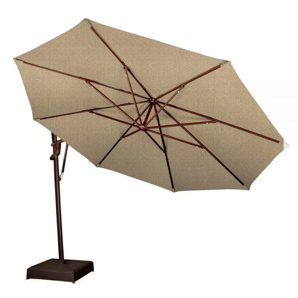 Treasure Garden 13' cantilever umbrella rotated to the side