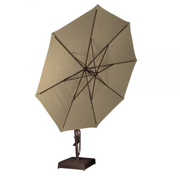 13' octagon umbrella tilted all the way up