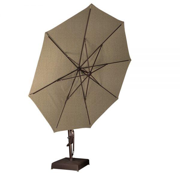 Treasure Garden 13' octagon cantilever umbrella tilted all the way back