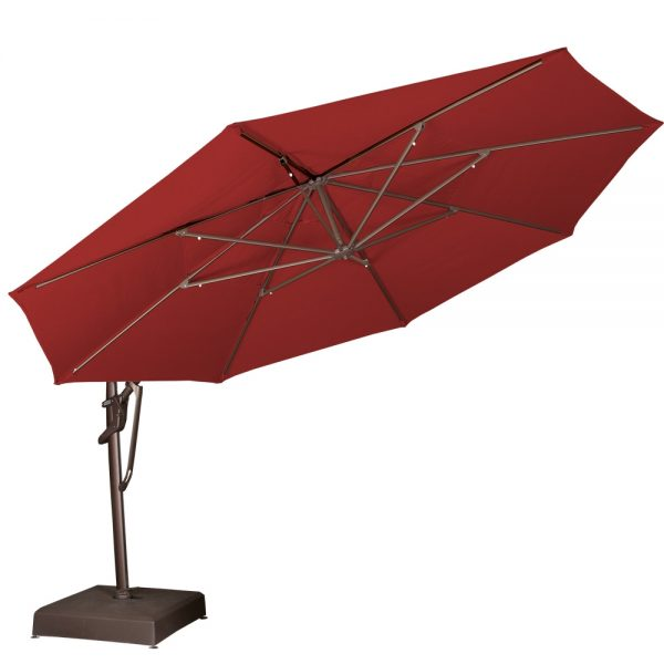 13' octagon cantilever umbrella tilted back