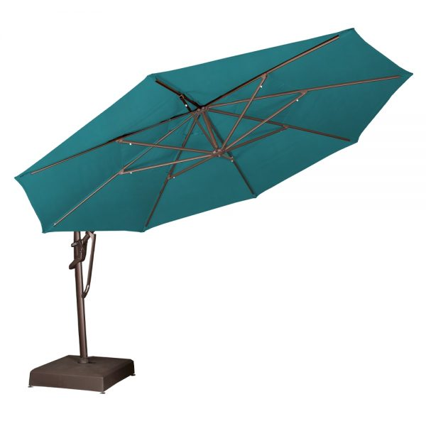 Treasure Garden 13' octagon cantilever umbrella tilted back