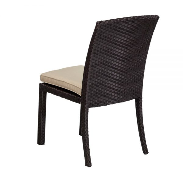 Sunset West wicker dining chair back view