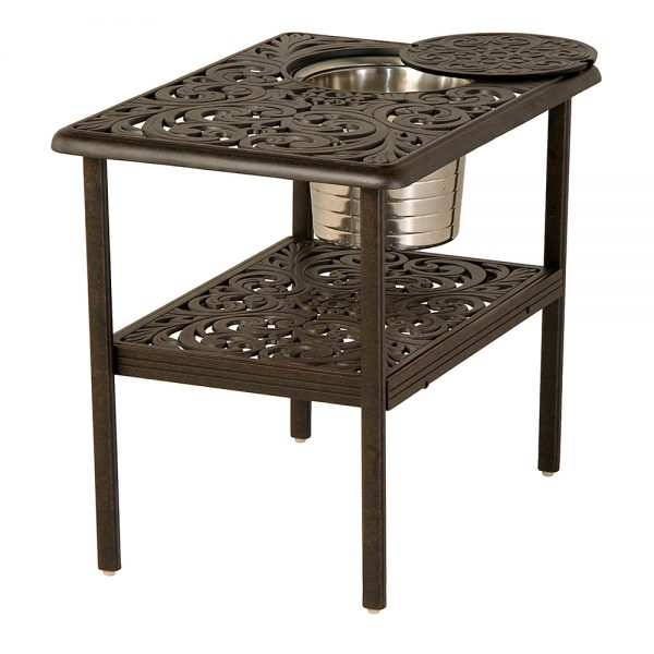 """20"""" x 28"""" Chateau ice bucket table"""