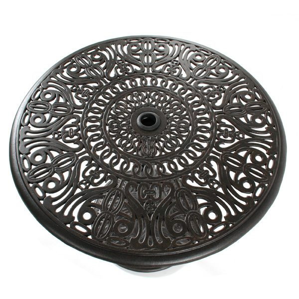 """30"""" round Tuscany  pedestal dining table top view"""