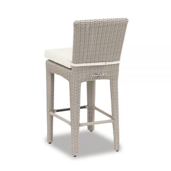 Sunset wicker bar stool back view