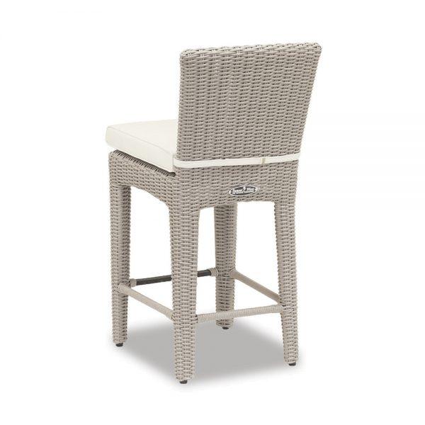 Manhattan wicker counter stool back view