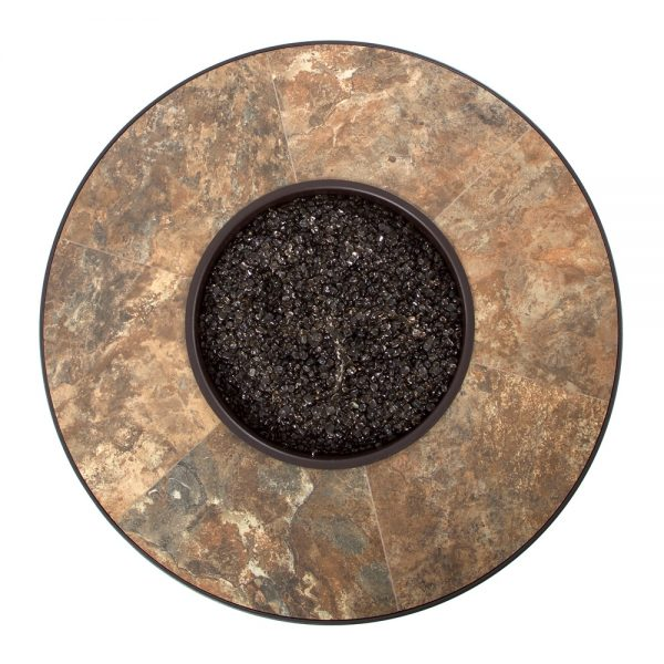 """36"""" round Rustic Slate porcelain top view"""