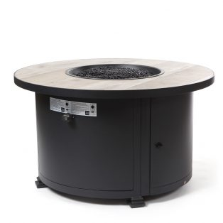 "42"" Round chat height Santorini fire pit - Silver Oak"