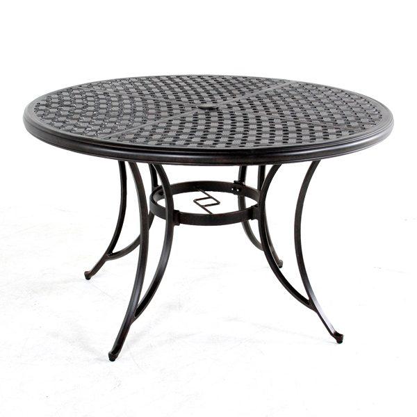 """Heritage 48"""" round cast aluminum table"""