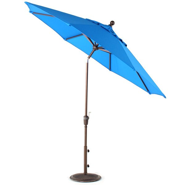 Treasure Garden 9' Market umbrella tilted