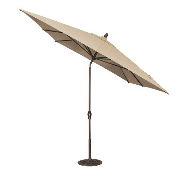 Treasure Garden 8' x 10' rectangular auto tilt market umbrella