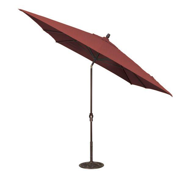 Treasure Garden 8' x 10' auto tilt rectangle market umbrella