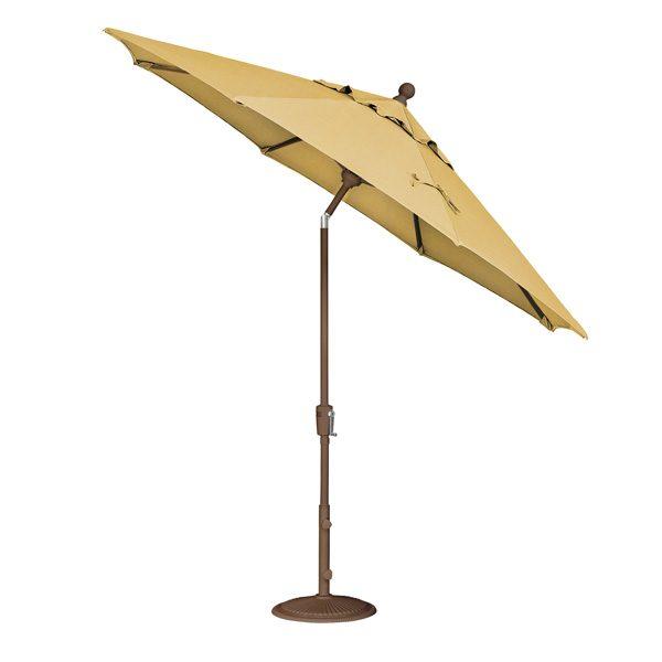 Treasure Garden 9' push button tilt market umbrella with Lemon fabric