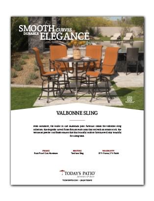 Valbonne Sling Collection Info Sheet Rev