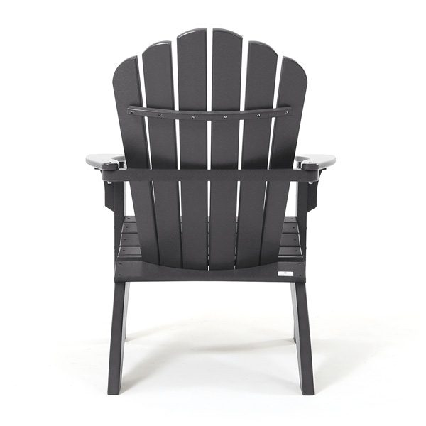 Patio Adirondack chair charcoal - back view