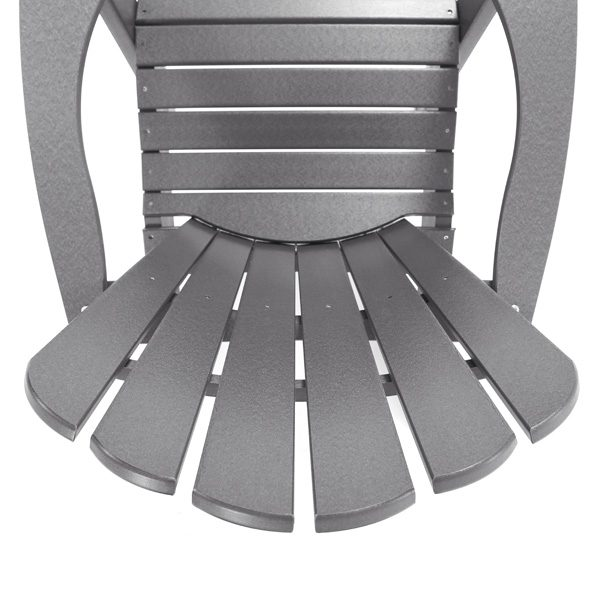 Seaside Casual charcoal Adirondack chair detailed view
