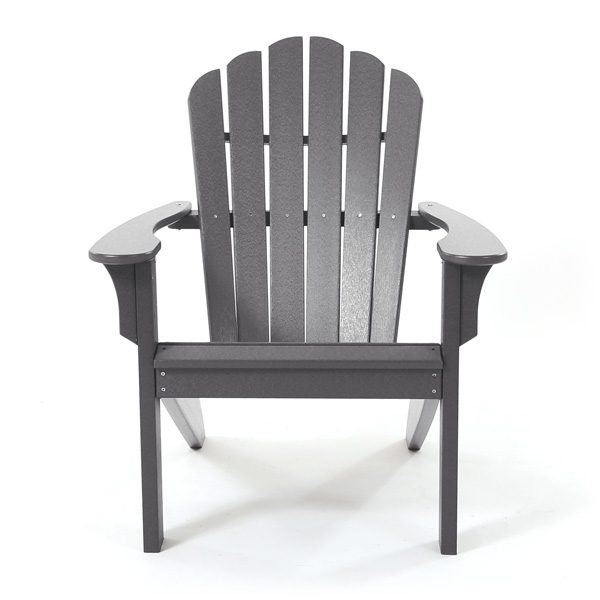 Coastline Casual charcoal Adirondack chair front view