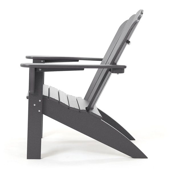 Seaside Casual outdoor charcoal Adirondack chair side view