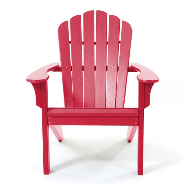 Seaside Casual Adirondack cherry red chair front view