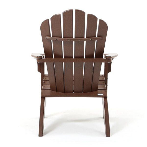Chestnut Adirondack chair back view