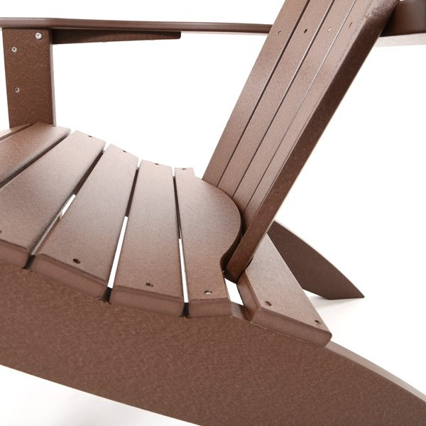 Adirondack patio chair Chestnut frame color detail