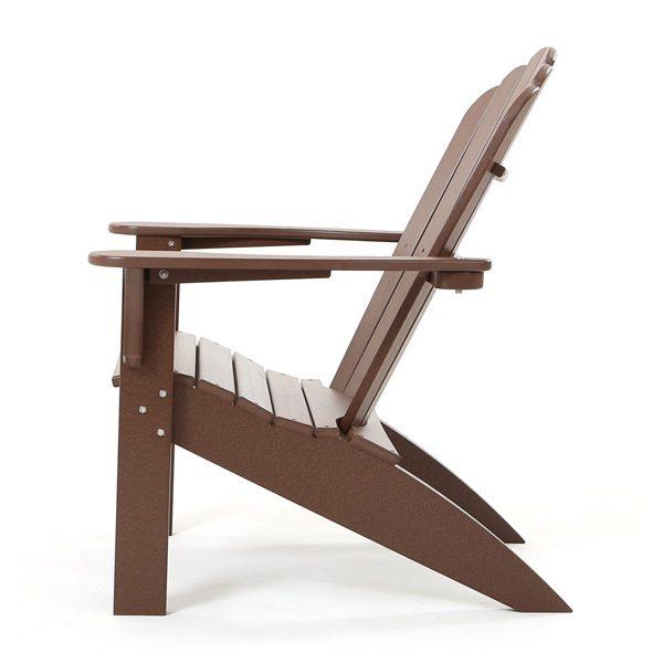 Coastline Casual polywood Adirondack chair side view