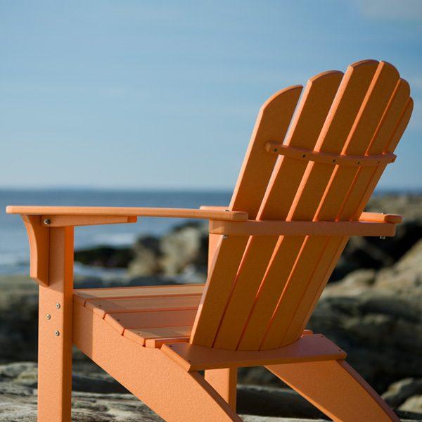Citrus Adirondack chair on the beach