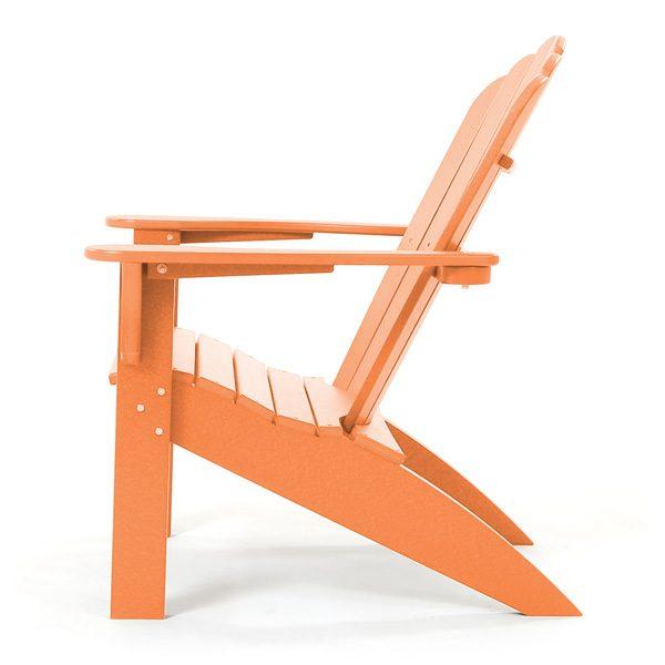 Coastline Casual citrus Adirondack chair side view