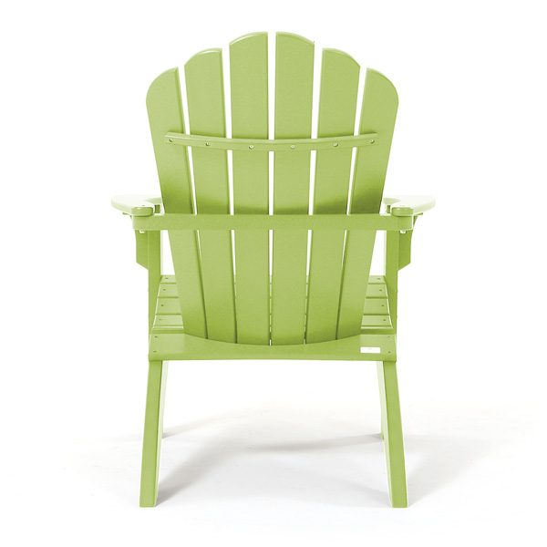 Outdoor Adirondack chair - leaf back view