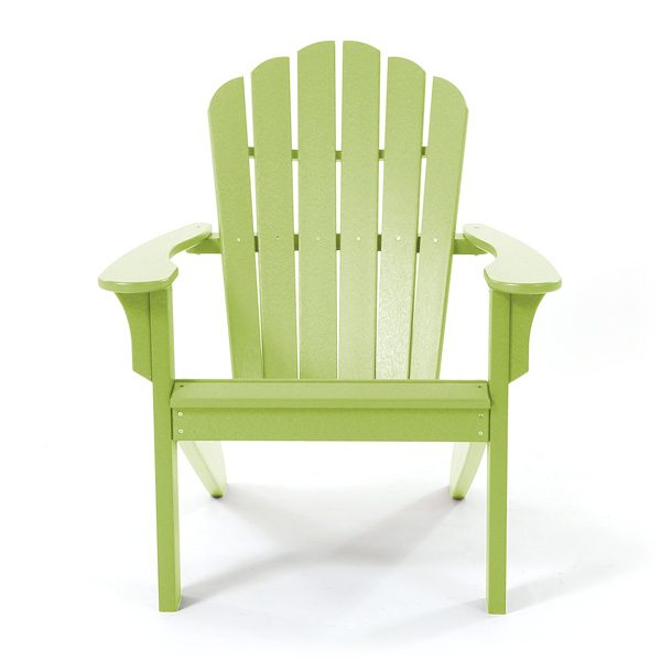 Seaside Casual green Adirondack chair front view