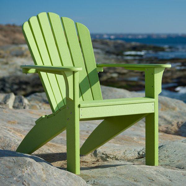 Seaside Casual leaf Adirondack chair on the beach