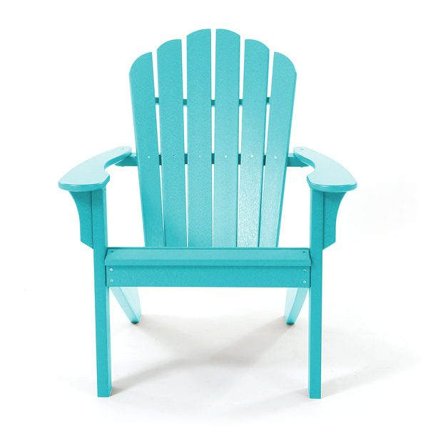 Seaside Casual teal Adirondack chair front view