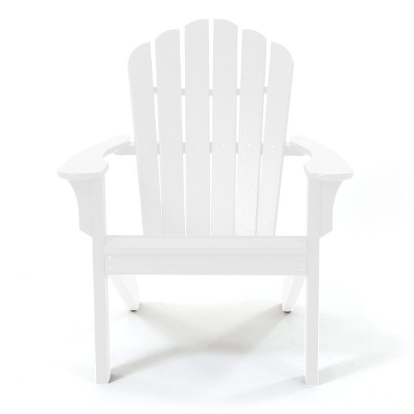 Coastline Casual white Adirondack chair front view