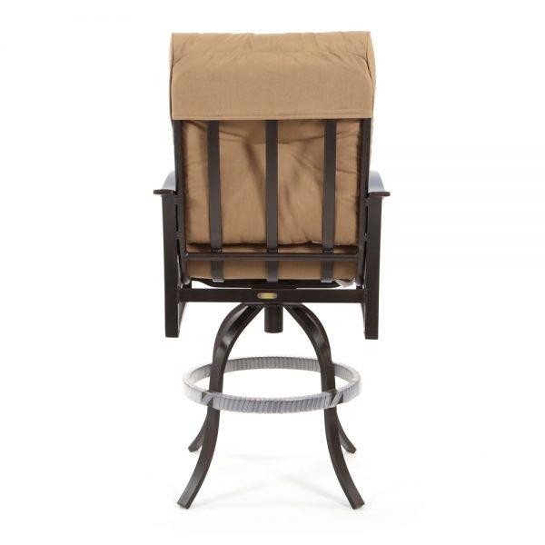 Albany outdoor swivel bar stool back view