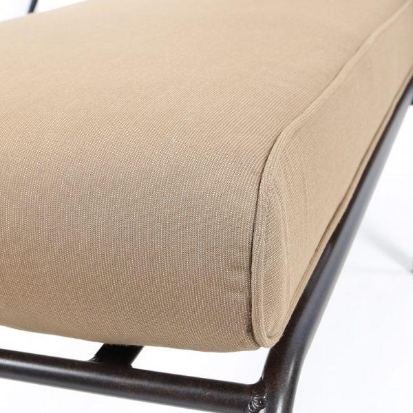Mallin Sunbrella Spectrum Caribou cushion detail