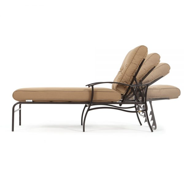 Albany patio adjustable chaise lounge side view with reclining positions
