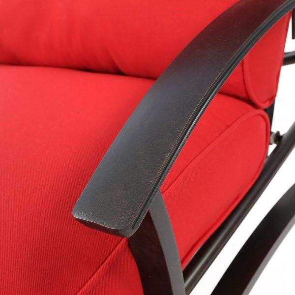 Mallin Albany aluminum chaise lounge with a Autumn Rust powder coat finish
