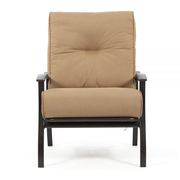 Mallin Albany aluminum club chair front view
