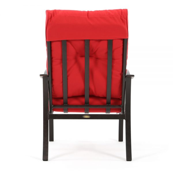 Albany patio dining chair back view
