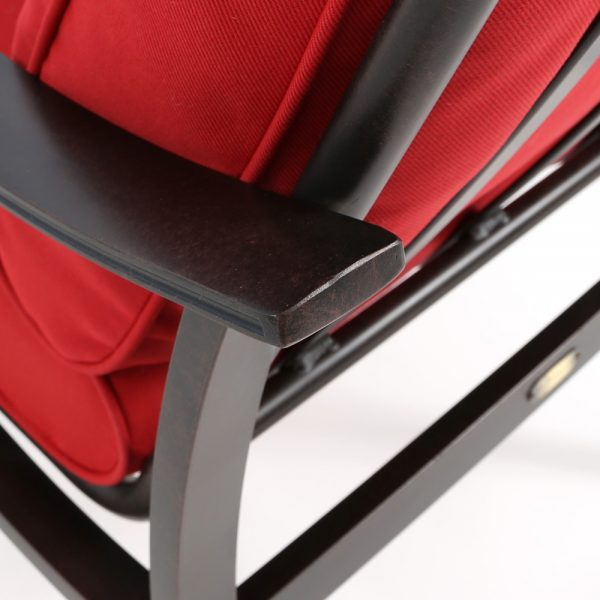 Mallin Albany aluminum dining chair with a rust proof Autumn Rust powder coat finish