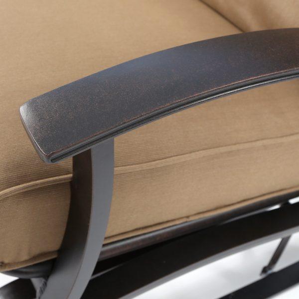 Mallin Albany aluminum double glider with Autumn Rust powder coat finish