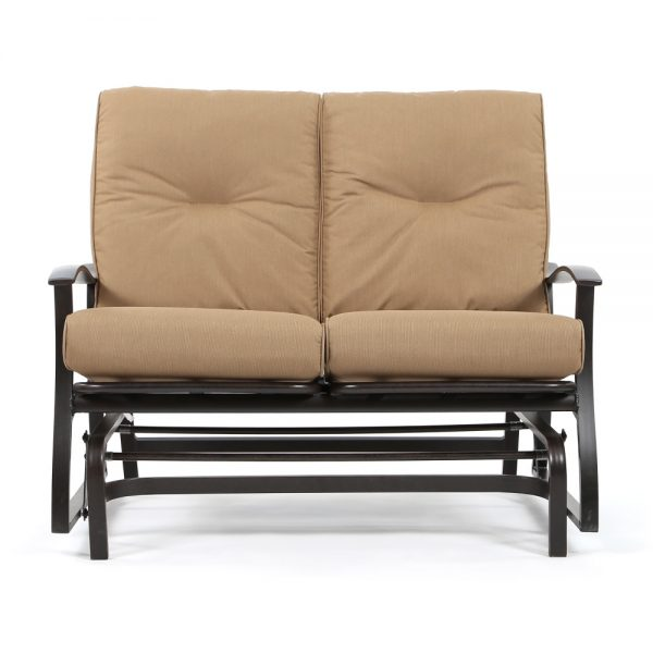 Mallin Albany aluminum double glider front view