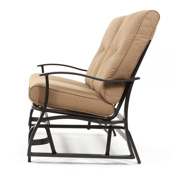 Albany outdoor gliding loveseat side view