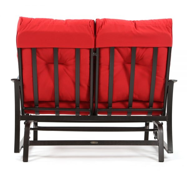 Albany outdoor double glider love seat back view