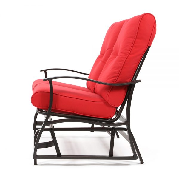 Albany patio double glider loveseat side view