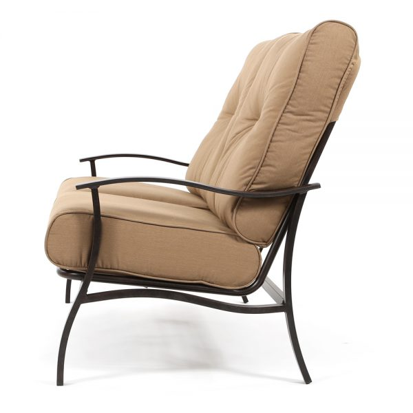 Albany patio love seat side view