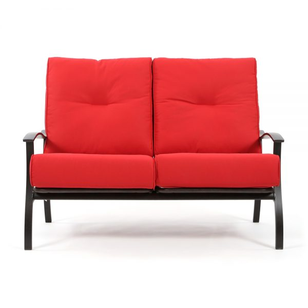 Mallin Albany outdoor love seat front view