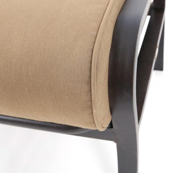 Mallin Sunbrella Spectrum Caribou fabric detail