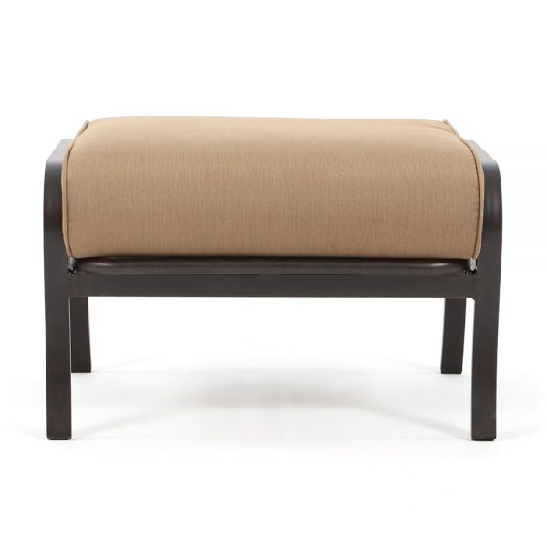 Mallin Albany outdoor ottoman front view